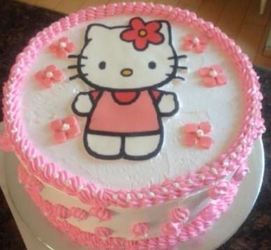 Foto Kue Ulang Tahun Hello Kitty Lucu
